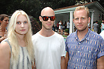 Meg Poyle, Jason Metcalfe, Daniel Small==<br /> LAXART 5th Annual Garden Party Presented by Tory Burch==<br /> Private Residence, Beverly Hills, CA==<br /> August 3, 2014==<br /> &copy;LAXART==<br /> Photo: DAVID CROTTY/Laxart.com==