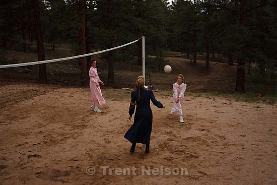 Westcliffe - . Monday, July 28, 2008. girls playing volleyball