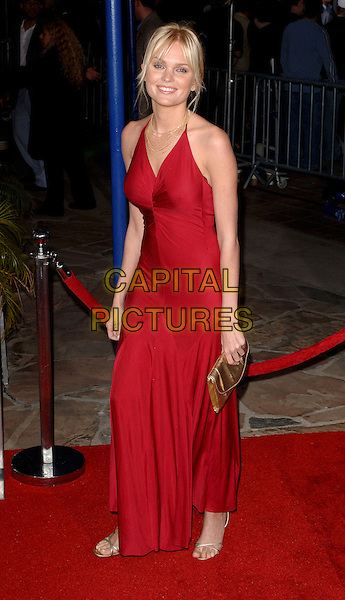 SUNNY MABREY.Arrivals for the World premiere of XXX State of the Union, held at the Mann Village, Westwood, CA..25th April, 2005. .full length red dress.www.capitalpictures.com.sales@capitalpictures.com.©Capital Pictures.