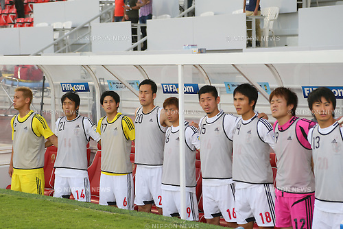 Japan team group (JPN), <br /> JUNE 11, 2013 - Football / Soccer : <br /> FIFA World Cup Brazil 2014 Asian Qualifier <br /> Final Round Group B <br /> between Iraq 0-1 Japan <br /> at Al-Arabi Stadium, Doha, Qatar. <br /> (Photo by YUTAKA/AFLO SPORT)