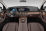 Stock photo of straight dashboard view of 2020 Mercedes Benz GLE 350-d-4MATIC 5 Door SUV Dashboard