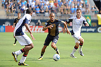 Fred (7) of the Philadelphia Union. The Philadelphia Union and the New England Revolution  played to a 1-1 tie during a Major League Soccer (MLS) match at PPL Park in Chester, PA, on July 31, 2010.