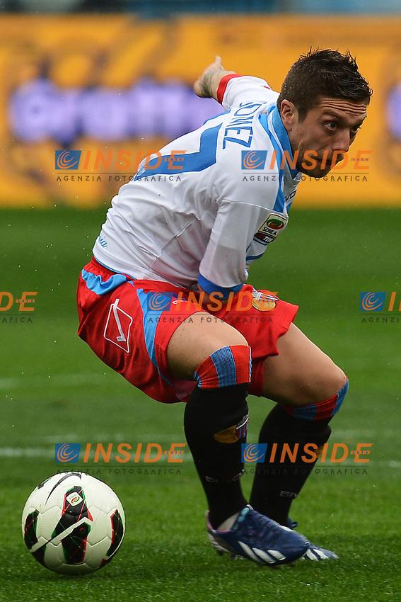 Alejandro Gomez Catania .Roma 30/03/2013 Stadio Olimpico.Football Calcio 2012/2013 Serie A.Lazio Vs Catania 2-1.Foto Andrea Staccioli Insidefoto