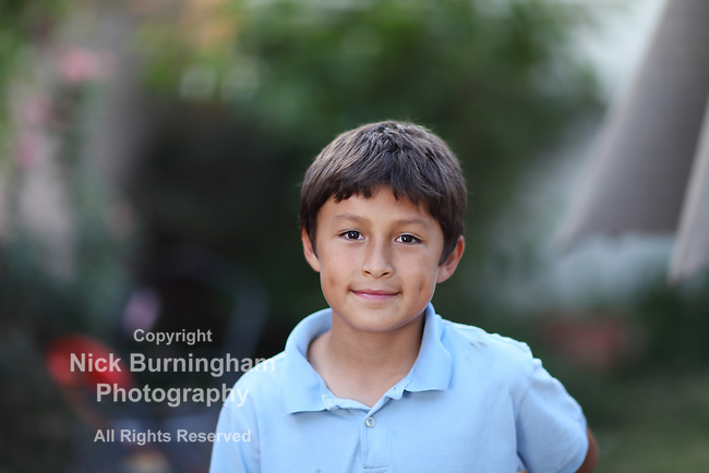 Portrait of smiling young boy outside - with shallow depth of field - copy space - EXCLUSIVELY AVAILABLE HERE