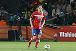 13 JUN 2010:  Neven Subotic (SRB)(20) is an American citizen who decided to play for his parents' national country.  The Serbia National Team played the Ghana National Team at Loftus Versfeld Stadium in Tshwane/Pretoria, South Africa in a 2010 FIFA World Cup Group D match.