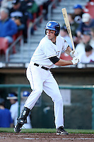 April 14, 2010:  First Baseman Ike Davis of the Buffalo Bisons at bat during a game at Coca-Cola Field in Buffalo, New York.  The Bisons are the Triple-A International League affiliate of the New York Mets.  Photo By Mike Janes/Four Seam Images