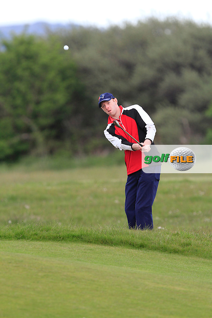 Seamus Cullen (Slieve Russell) on the 16th fairway during Round 3 of the Irish Amateur Open Championship at Royal Dublin on Saturday 9th May 2015.<br /> Picture:  Thos Caffrey / www.golffile.ie