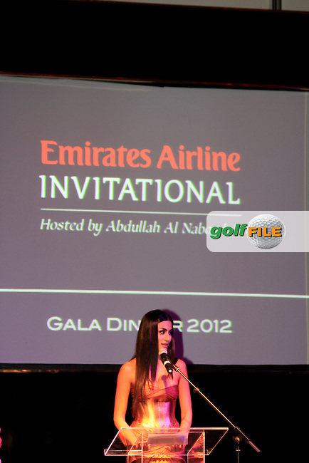 Emirates Airline Invitational 2012 Gala Dinner hosted by Abdullah Al Naboodah at the Yas Viceroy, Yas Marina, Abu Dhabi, UAE..Picture Fran Caffrey www.golffile.ie