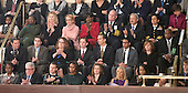 Attendees in the First Lady's box applaud as United States President Barack Obama delivers his State of the Union Address to a Joint Session of Congress in the U.S. Capitol on Tuesday, January 28, 2014.  Front row, from left are, Sabrina Simone Jenkins, Craig Remsburg, U.S. Army Sergeant 1st Class Cory Remsburg, first lady Michelle Obama, Misty DeMars, Jill Biden, Kathy Hollowell-Makle, Aliana Arzola-Pinero, and Joey Hudy. Second row, from left are, Jeff Bauman, Carlos Arredondo, Amanda Shelly, Nick Chute, John Soranno, Estiven Rodriguez, and General Motors CEO Mary Barra and unidentified security. Third row, fourth from left are, Antoinette Tuff, Moore (Okla.) Fire Chief Gary Bird, and San Francisco Mayor Ed Lee.<br /> Credit: Ron Sachs / CNP<br /> (RESTRICTION: NO New York or New Jersey Newspapers or newspapers within a 75 mile radius of New York City)