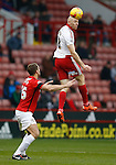 Conor Sammon of Sheffield Utd gets above Ben Turner of Coventry City - English League One - Sheffield Utd vs Coventry City - Bramall Lane Stadium - Sheffield - England - 13th December 2015 - Pic Simon Bellis/Sportimage-