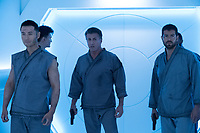 Escape Plan 2: Hades (2018) <br /> Sylvester Stallone, Jesse Metcalfe &amp; Chen Tang  <br /> *Filmstill - Editorial Use Only*<br /> CAP/MFS<br /> Image supplied by Capital Pictures