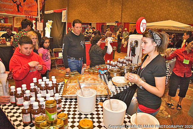The 23rd Annual National Fiery Foods & Barbeque Show was held at the Sandia Pueblo Casino in March of 2011 and drew vendors and visitors from as far away as Michigan, California and Germany.