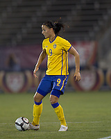 Sweden forward Jessica Landstrom (9). The US Women's national team beat Sweden, 3-0, at Rentschler Field on July 17, 2010.