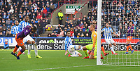 Manchester City's Raheem Sterling scores his team's 2nd goal <br /> <br /> Photographer Dave Howarth/CameraSport<br /> <br /> The Premier League - Huddersfield Town v Manchester City - Sunday 20th January 2019 - John Smith's Stadium - Huddersfield<br /> <br /> World Copyright © 2019 CameraSport. All rights reserved. 43 Linden Ave. Countesthorpe. Leicester. England. LE8 5PG - Tel: +44 (0) 116 277 4147 - admin@camerasport.com - www.camerasport.com