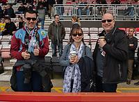 Burnley fans<br /> <br /> Photographer David Horton/CameraSport<br /> <br /> The Premier League - Bournemouth v Burnley - Saturday 6th April 2019 - Vitality Stadium - Bournemouth<br /> <br /> World Copyright © 2019 CameraSport. All rights reserved. 43 Linden Ave. Countesthorpe. Leicester. England. LE8 5PG - Tel: +44 (0) 116 277 4147 - admin@camerasport.com - www.camerasport.com