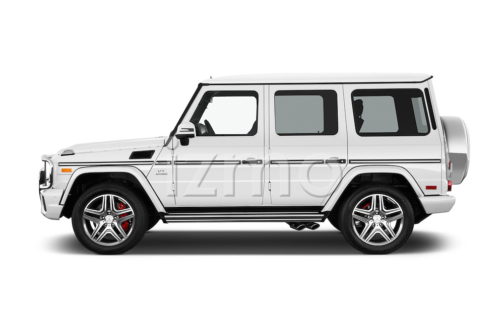 Car Driver side profile view of a 2016 Mercedes Benz G-Class AMG-G63 5 Door SUV Side View