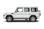 Car Driver side profile view of a 2018 Mercedes Benz G-Class AMG-G63 5 Door SUV Side View
