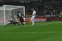 England goalkeeper partially deflects U.S. forward Jozy Altidore's shot in the post, saving a game winning goal late in the teams' debut match in the 2010 FIFA World Cup. The U.S. and England played to a 1-1 draw in the opening match of Group C play at Rustenburg's Royal Bafokeng Stadium, Saturday, June 12th.