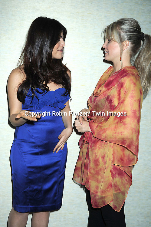 actress Shenaz Treasurywala of One Life to Live and also Bollywood star and Terri Conn attending the 26th Annual Starlight Children's Foundation Gala on March 16, 2011 at The Marriott Marquis Hotel in New York City.