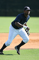 March 17th 2008:  Eduardo Nunez of the New York Yankees minor league system during Spring Training at Legends Field Complex in Tampa, FL.  Photo by:  Mike Janes/Four Seam Images