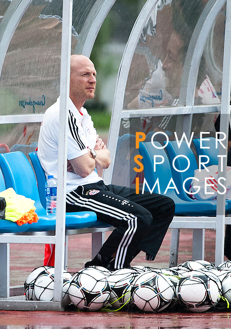 GUANGZHOU, GUANGDONG - JULY 26:  Head of sports Matthias Sammer of Bayern Munich during a training session ahead the friendly match against VfL Wolfsburg as part of the Audi Football Summit 2012 on July 26, 2012 at the Tianhe Sports Stadium in Guangzhou, China. Photo by Victor Fraile / The Power of Sport Images
