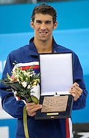 Roma 2nd August 2009 - 13th Fina World Championships From 17th to 2nd August 2009....Swimming finals..Michael Phelps (USA) awarded as the Fina Swimmer of Roma09 World Championships....photo: Roma2009.com/InsideFoto/SeaSee.com