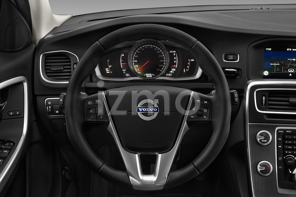 Car pictures of steering wheel view of a 2017 Volvo V60-Cross-Country Summum 5 Door Wagon Steering Wheel