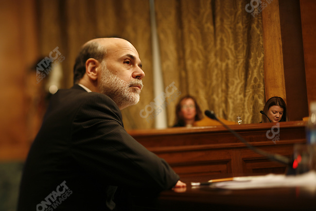 Federal Reserve Bank Chairman Ben Bernanke appears before the Senate Finance Committee at the US Capitol, Washington, D.C. March 2, 2009.
