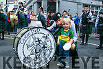 At the Rose Parade on Sunday were Kaylan Long with Dad Richard Long from the Tralee Pipe and Drum