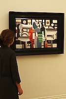 The superstar Madonna owned Fernand Leger 'Trois Femmes a la table rouge', (Three women at the red table) . The painting estimated at  5-7 million U.S. dollars is going on sale in New York on May 7, 2013, the proceeds will benefit the Ray of Light Foundation, Sotheby's, London, UK, Friday April 12, 2013. Photo by Max Nash / i-Images / DyD Fotografos