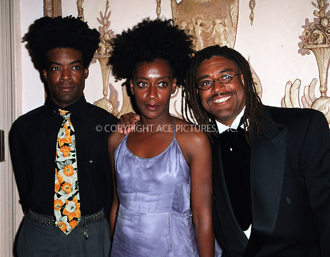 Spike Lee's relatives, brother David Lee, sister Joie Lee and Cinque Lee arrive at Waldorf-Astoria for the 3rd Annual Directors Guild of America Awards. New York, June 9, 2002. Please byline: Alecsey Boldeskul/NY Photo Press.   ..*PAY-PER-USE*      ....NY Photo Press:  ..phone (646) 267-6913;   ..e-mail: info@nyphotopress.com
