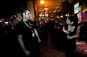 Sarajevo 09.12.2009 Bosnia and Herzegovina<br /> In pubs in Sarajevo, in the evenings all young people play together, to be in oblivion to the time of war.<br /> Bosnia and Herzegovina for many years dreamed to be adopted into the European Union. On the streets, everybody can see young and old people who looks like Europeans. Streets in the city center are also similar to European cities. Unfortunately, all people in BiH know that political disagreement between warring nationalities in the parliament does not help them to be accepted into the EU.<br /> Photo: Adam Lach / Newsweek Polska / Napo Images<br /> <br /> W Sarajewskich pubach wieczorami wszyscy bawia sie razem, bedac w niepamieci do czasow wojennych: chorwaci, serbowie i bosniacy.<br /> BiH od wielu lat marzy by przyjeto ja do UE. NA ulicach widac mlodych i starszych ludzi ktory wygladaja jak europejczycy. Ulice w centrum miasta sa rownie podobne do miast europejskich. Niestety wewnetrznie wszyscy wiedza ze polityczna niezgoda pomiedzy zwasnionymi narodowosciami w parlamencie nie pomaga im na to by przystapic do UE.<br /> Photo: Adam Lach /  Newsweek Polska / Napo Images