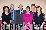 Patsy Cremin who was named personality of the year with his family at the East Kerry All Star awards in the Gleneagle Hotel on Friday night l-r: Carmel, Donie, Patsy, Bernie and Ann Cremin with Joan Millis