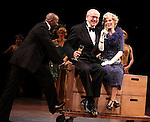 Blythe Danner Returns to Broadway: Correy West, Terry Beaver, Blythe Danner.during the Curtain Call for 'Nice Work If You Can Get It'  at the Imperial Theatre in New York City on December 19, 2012
