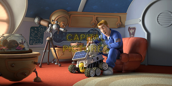 "SCENE - ""Rover"" with ""Chuck Baker"" voiced by Dwayne ""The Rock"" Johnson.in Planet 51 .*Filmstill - Editorial Use Only*.CAP/FB.Supplied by Capital Pictures."