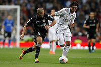 08.04.2012 SPAIN -  La Liga matchday 32th  match played between Real Madrid CF vs Valencia (0-0) and falls to 4 points behind Barcelona, at Santiago Bernabeu stadium. The picture show Sofiane Feghouli (Midfielder of Valencia) and  Sami Khedira (German midfielder of Real Madrid)