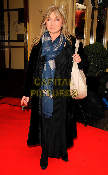 HELEN LEDERER .The Tesco Magazine Mum of the Year Awards, Waldorf Hilton Hotel, London, England..March 2nd, 2008.full length black coat blue scarf beige bag purse .CAP/CAN.©Can Nguyen/Capital Pictures.