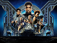 Black Panther (2018) <br /> Promotional art with Chadwick Boseman, Michael B. Jordan, Lupita Nyong'o, Forest Whitaker, Andy Serkis, Danai Gurira &amp; Martin Freeman<br /> *Filmstill - Editorial Use Only*<br /> CAP/KFS<br /> Image supplied by Capital Pictures