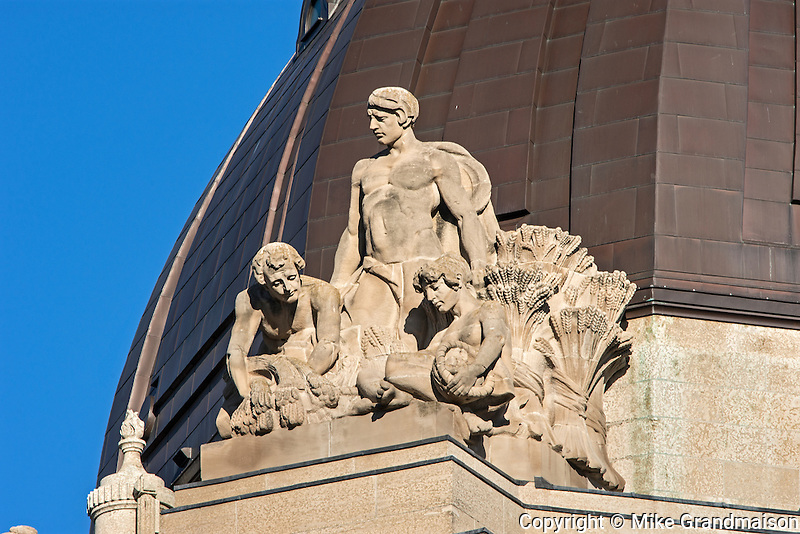 Gargoyles on top of Manitoba Legislature<br /> Winnipeg<br /> Manitoba<br /> Canada