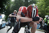 An extremely disappointed Jurgen Roelandts (BEL/Lotto-Soudal) loses the title that was for him to grab as he was the better sprinter of the 2 finalists.<br /> <br /> Belgian Championships 2015