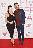 WESTWOOD, CA - MARCH 07: Aijia Lise (L) and Andy Grammer attend the Premiere Of Lionsgate's 'Five Feet Apart' at Fox Bruin Theatre on March 07, 2019 in Los Angeles, California.<br /> CAP/ROT/TM<br /> &copy;TM/ROT/Capital Pictures