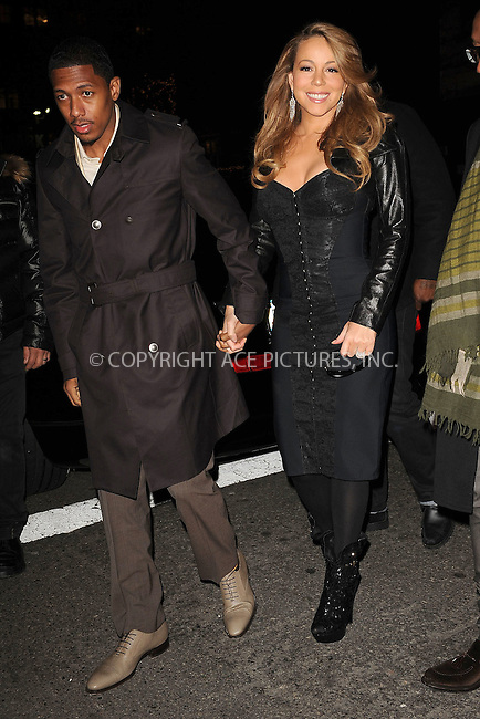 WWW.ACEPIXS.COM . . . . . ....December 8 2009, New York City....Singer Mariah Carey and Nick Cannon arriving at the launch of VEVO, a new music and video website, at Skylight Studio on December 8, 2009 in New York City.....Please byline: KRISTIN CALLAHAN - ACEPIXS.COM.. . . . . . ..Ace Pictures, Inc:  ..tel: (212) 243 8787 or (646) 769 0430..e-mail: info@acepixs.com..web: http://www.acepixs.com