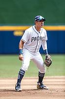 Christian Villanueva..<br /> Acciones del partido de beisbol, Dodgers de Los Angeles contra Padres de San Diego, tercer juego de la Serie en Mexico de las Ligas Mayores del Beisbol, realizado en el estadio de los Sultanes de Monterrey, Mexico el domingo 6 de Mayo 2018.<br /> (Photo: Luis Gutierrez)