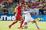 Eden Hazard (BEL), Viktor Fayzulin (RUS), JUNE 22, 2014 - Football / Soccer : FIFA World Cup Brazil 2014 Group H match between Belgium 1-0 Russia at the Maracana stadium in Rio de Janeiro, Brazil. (Photo by Maurizio Borsari/AFLO)