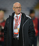 Serbia Manager Slavoljub Muslin during the FIFA World Cup Qualifying match at the Cardiff City Stadium, Cardiff. Picture date: November 12th, 2016. Pic Robin Parker/Sportimage