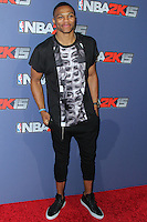 NEW YORK CITY, NY, USA - SEPTEMBER 23: Russell Westbrook arrives at the NBA 2K15 Launch Celebration held at The Standard on September 23, 2014 in New York City, New York, United States. (Photo by Jeffery Duran/Celebrity Monitor)