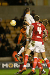 Matt Doherty (part hidden) scores the winner in the last minute for Wolves - Football - Wolverhampton Wanderers vs Bristol City - Molineux Wolverhampton - Sky Bet Championship - 8th March 2016 - Season 2015/2016 - Picture Malcolm Couzens/Sportimage