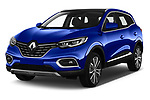 2019 Renault Kadjar Intens 5 Door SUV Angular Front stock photos of front three quarter view