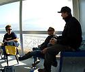 Tony, Mick Fanning and Matt Griggs in Mundaka, Spain.