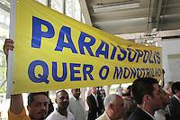 SAO PAULO, 29 DE MARÇO DE 2012. MONOTRILHO LINHA 17 - OURO  . cerimônia de assinatura da Autorização para o início das obras do monotrilho do metrô  da Linha 17 - ouro que ligará o aeroporto de Congonhas ao Morumbi na estação Morumbi da CPTM . FOTO: ADRIANA SPACA - BRAZIL PHOTO PRESS